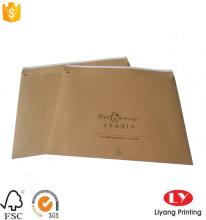 पुनर्नवीनीकरण भूरे रंग क्राफ्ट पेपर के साथ मुद्रण आवृत