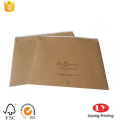 Recycled brown kraft paper envelop with printing