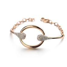 Горячие Пункт Рекламные браслет 2016 ювелирные изделия чрезвычайных круг кристалл авеню браслет ювелирных аксессуаров