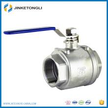 Fábrica directamente nueva tecnología ahorro costo 3 pulgadas acero inoxidable válvula de bola planta química