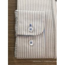Chemise femme 100% coton rayée teinte en fil