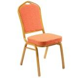 Golden Powder Painting Hotel Restaurant Chairs