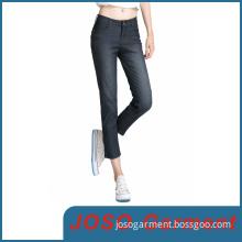 MID Waisted Denim Stretch Skinny Cropped Jeans (JC1054)