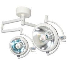 Lampe chirurgicale halogène à double tête montée au plafond