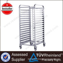 China Mainland Superior Quality Kitchen Food Stainless Steel Trolley