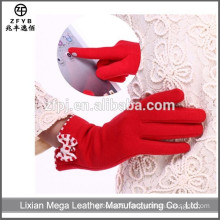 Women fashion Custom warm Laminated Fleece Gloves
