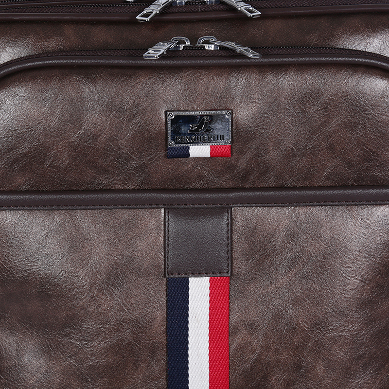 pu leather luggage lattop