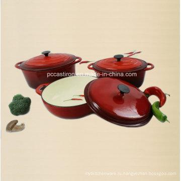 Комплект для эмалированной посуды 3PCS Cast Iron Set
