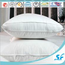 Funda de almohada con fuelle de inserción de almohada de plumas de plumón de pato de tela de algodón