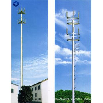 Гальванизированная телекоммуникационная монопольная электрическая стальная опора