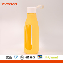 Everich Borosilicate Easy Carrying Glass Water Bottle With Silicone Sleeve