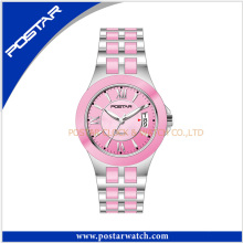 The Attractive Unisex Ceramic Swiss Women Watch with Stainless Steel Band