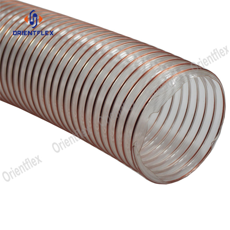 Pu Steel Duct Hose 9