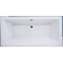 Square Freestanding Acryic Plastic Bathtub for Adult