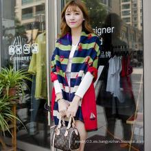 Bufanda de alto grado de la mujer de la venta al por mayor del patrón de la raya del barco de la bufanda de la señora 2015