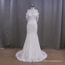 Beaded Mermaid Long Lace Bridal Gown 2016