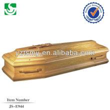 puxadores de madeira com uma cruz de madeira de carvalho engrossar o caixão