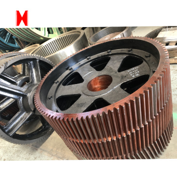 Forging/casting Steel spiral bevel large girth gear and shaft