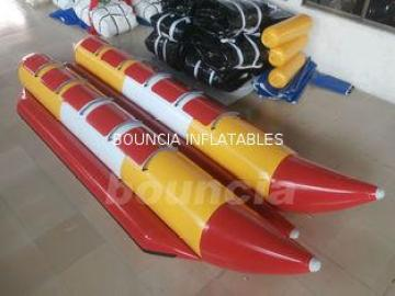 Commercial Grade Inflatable Banana Boat Red Used In The Lak