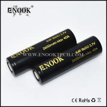CE & ROHS certifierade Enook 2600mah 18650 batteri