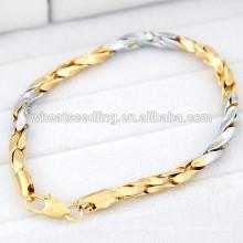 Модели с простым золотым браслетом из сплавной цепочки