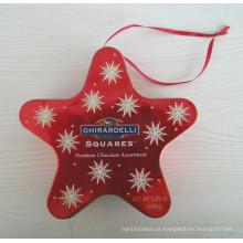 Star Tin Box para o Natal (JYL081102)