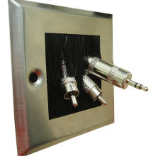 Commercial Ceiling Speakers Wall Plate With Brush 86mm X 86mm