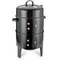 Black charcoal smoke Kitchen Cooking BBQ grill  outdoor BBQ Charcoal barbecue smoker with heat indicator