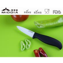 Couteaux de cuisine en céramique à poignée noire