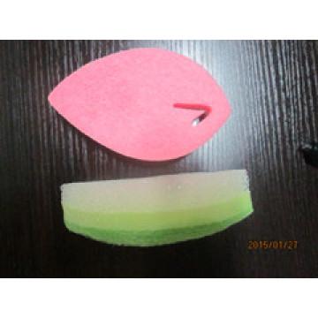 Esponja de filtro de forma de folha para limpeza