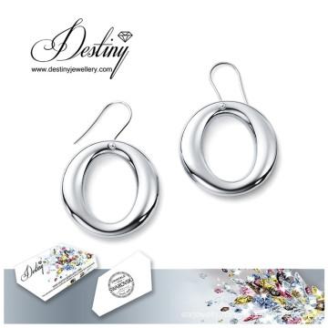 Destiny Jewellery Crystals From Swarovski Earrings Simple Round Earrings