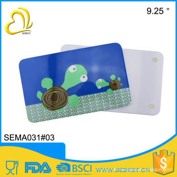 wholesale surface shiny non-slip melamine square breakfast board