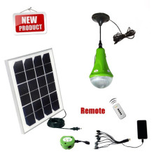 Lámpara solar con 2 lámparas para uso doméstico área remota led con cargador de móvil