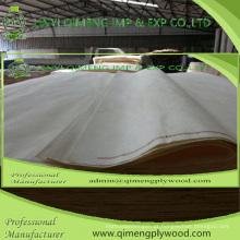 Folheado do álamo do grau de 0.15-0.30mm Abcd da espessura do tamanho 1280X2500mm para a madeira compensada