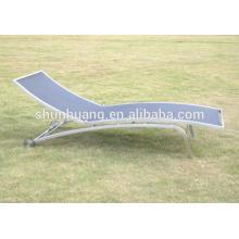 New design beach sling chair aluminum sun lounger outdoor furniture