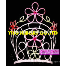 "10"" tall crystal flower tiara for adult"