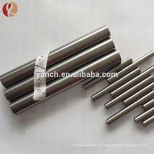 99.95% pulido ASTM B392 Nb1 Nb2 precio de la barra redonda de niobio por kg