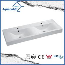 Двойной чаша прямоугольная Ванная комната керамический шкаф раковиной умывальника (ACB4612D)
