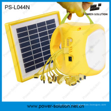 Портативный литий-ионная аккумуляторная солнечная батарея Солнечная светодиодные света с зарядки телефона (ПС-L044N)