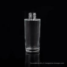 Bouteille de parfum en verre de forme ronde en cristal de 90ml avec le couvercle à visser