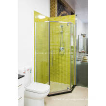 Gabinete de ducha de cristal transparente forma de diamante forma (H008B)
