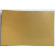 Custom heat transfer gold pearl plate