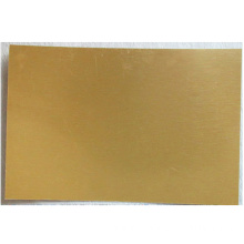 Custom heat transfer gold pearl plate