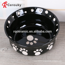 2016 new products black ceramic pet bowl for dog and cat