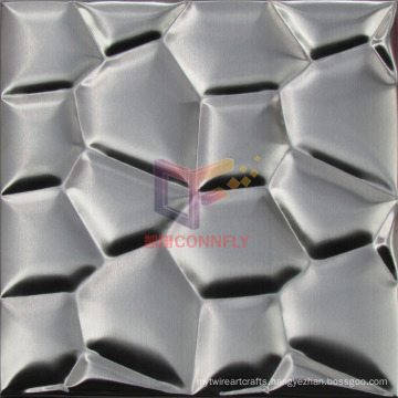 Grind Face 304 Stainless Steel Water Cube Metal Mosaic (CFM889)