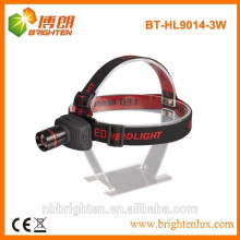 Factory supply 3 modes adjustable focus zoom led headlights headlamp, cree led headlight 160lm