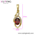 33244 xuping women 14k gold color imitation diamond pendant jewelry