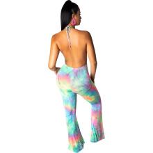 Wholesale Women Clothing Tie-Dye Suits Casual 2 Piece Women Outfit Two Pieces Set