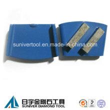 40 * 12 * 12 m m del segmento concreto de piso de Metal pulido Pads