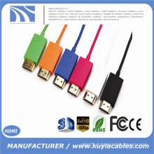 1m 1.5m 2m Alta Velocidade Super Slim HDMI para cabo HDMI 1080P Ethernet Suporte para PS4 TV set top box